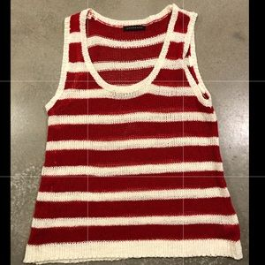 🌸 4/$20 Staccato red & white striped  tank